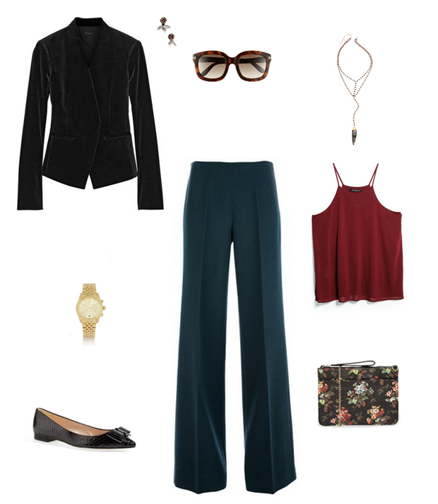 How She'd Wear It with Style and Cheek - Menswear Trousers