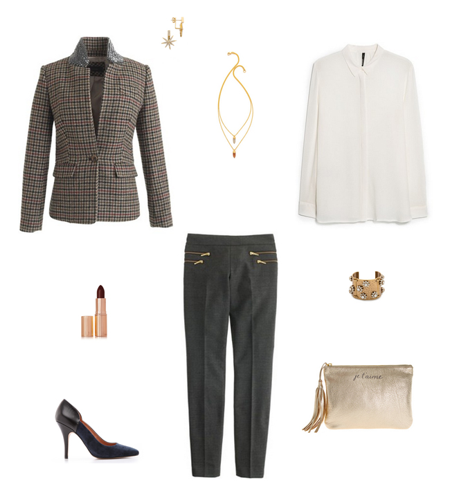 How She'd Wear It with Style and Cheek - Menswear Wool Blazers