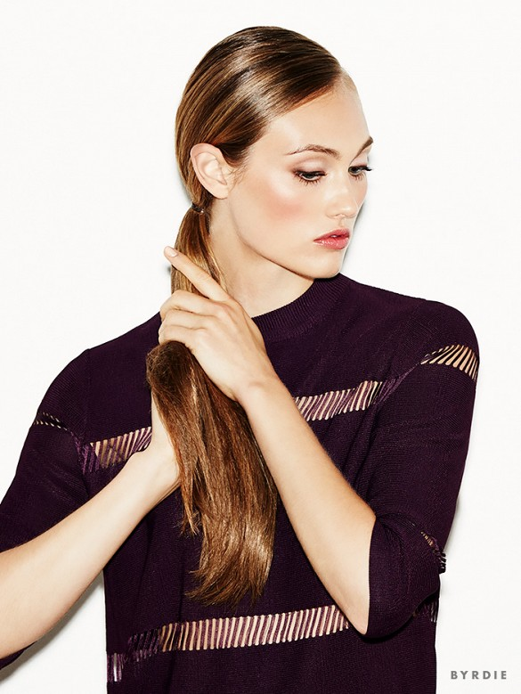 How To: Sleek Double Ponytail in Under 3 Minutes | Byrdie | 6 Easy Hairstyles to Try This Fall