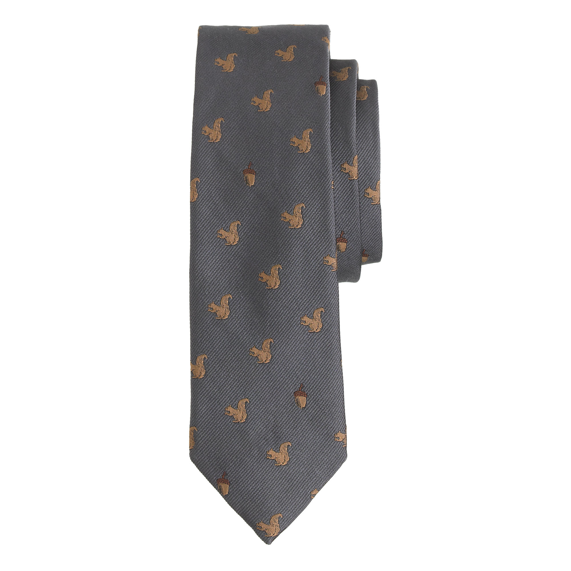 J.Crew English Silk Tie with Embroidered Squirrels   10 Fall Wardrobe Essentials for Men