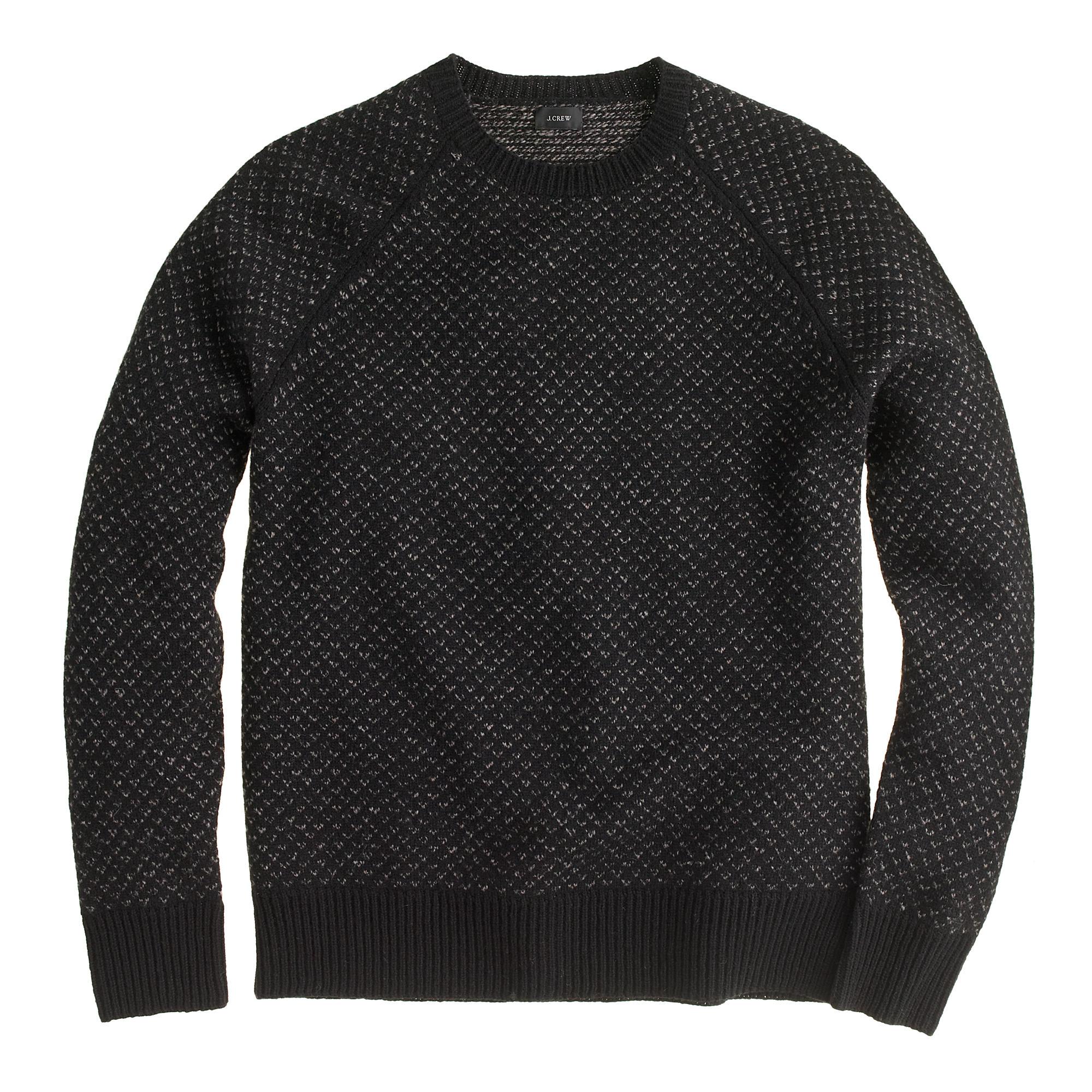 J.Crew Lambswool Bird's-Eye Sweater | 10 Fall Wardrobe Essentials for Men