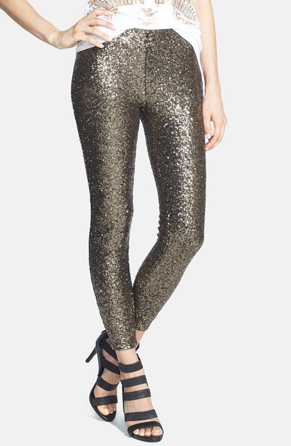 Lucy Paris 'Shasta' Sequin Leggings - Sequin Pants