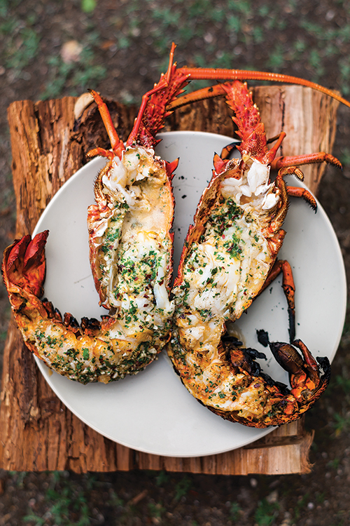 Grilled Lobster with Garlic-Parsley Butter (credit: Mark Roper) | SAVEUR | Seafood Recipes for Christmas Eve