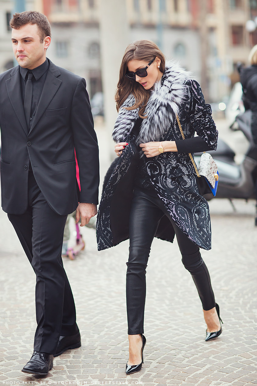 Olivia Palermo | Stockholm Street Style | Sequins and Lace Holiday Outfit Inspiration