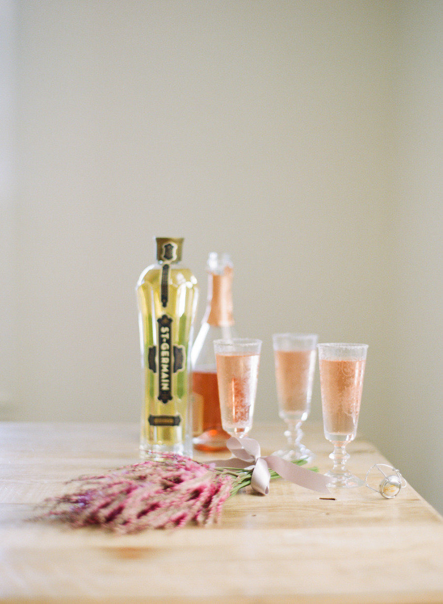 St-Germain Signature Cocktail Inspired by Soft Romance photography: White Loft Studio | Style Me Pretty | Six Champagne Cocktails to Try this Winter