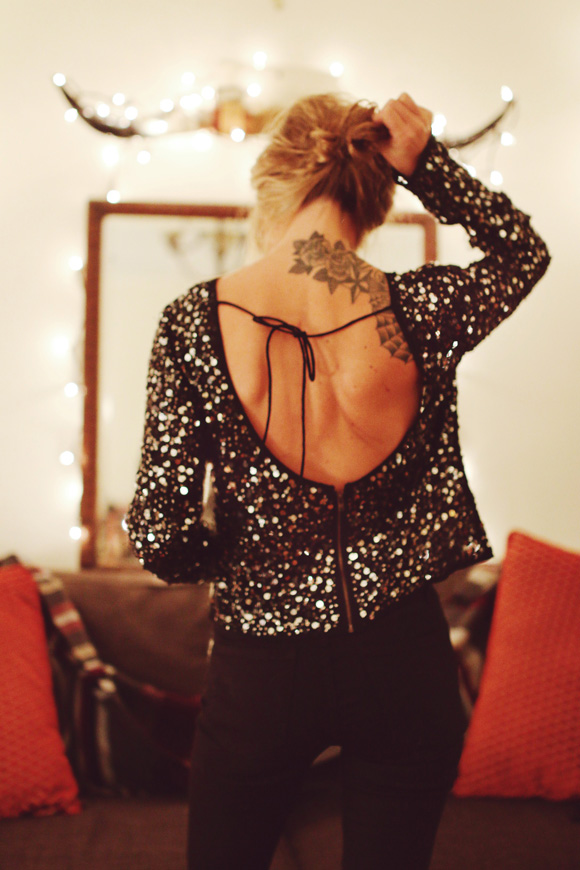 Tis' The Season To Appreciate: Amanda + Gus | Free People Blog | Sequins and Lace Holiday Outfit Inspiration