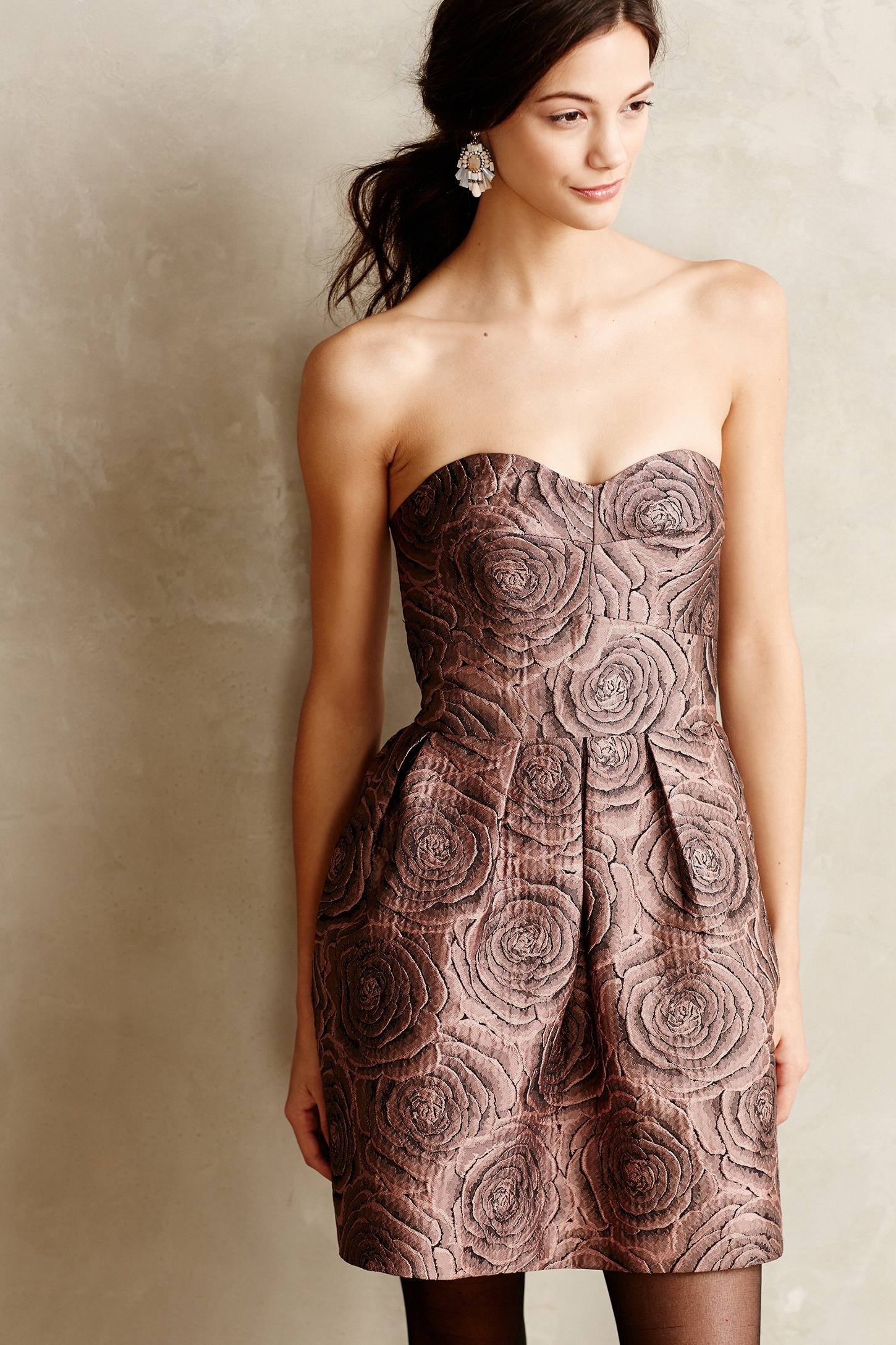Candy Rose Jacquard Dress by Hutch from Anthropologie | Versatile Valentine's Day Dresses