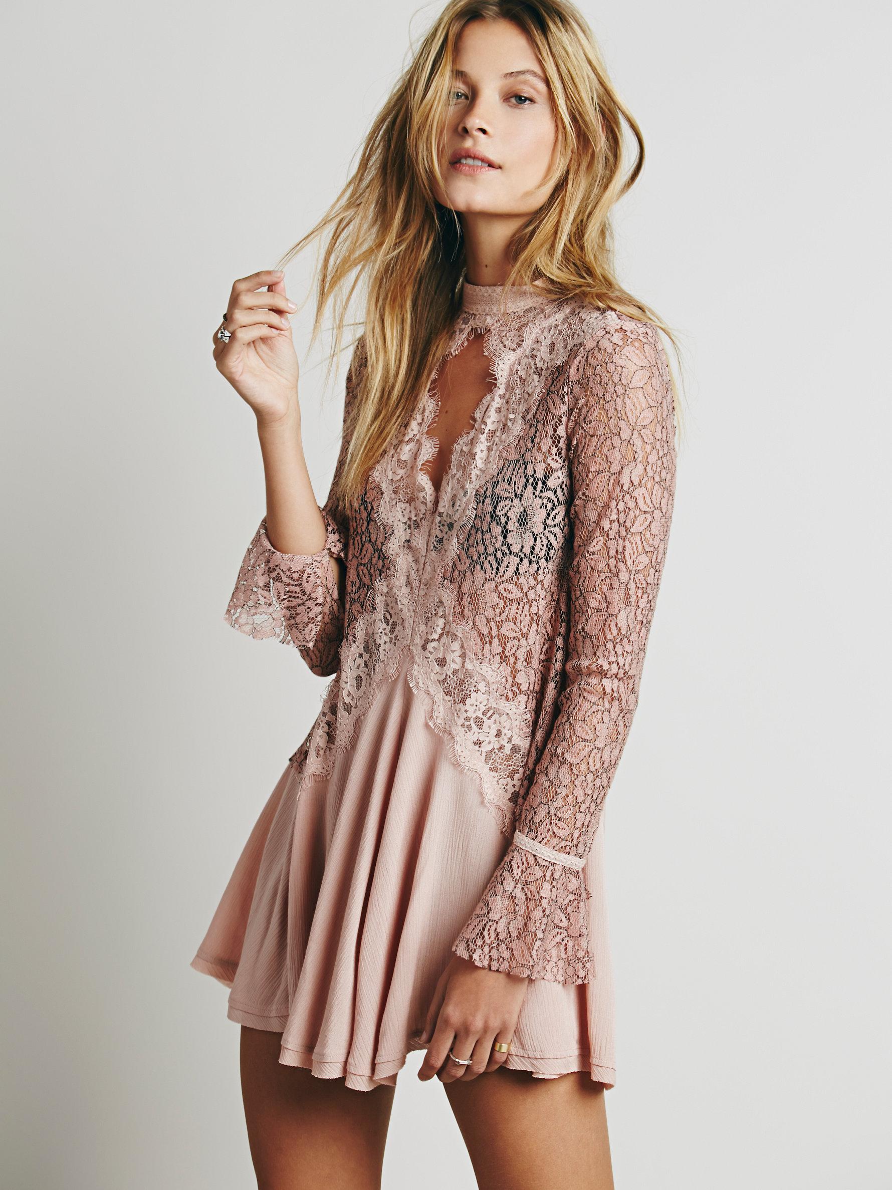 Free People Secret Origins Pieced Lace Tunic | Versatile Valentine's Day Dresses