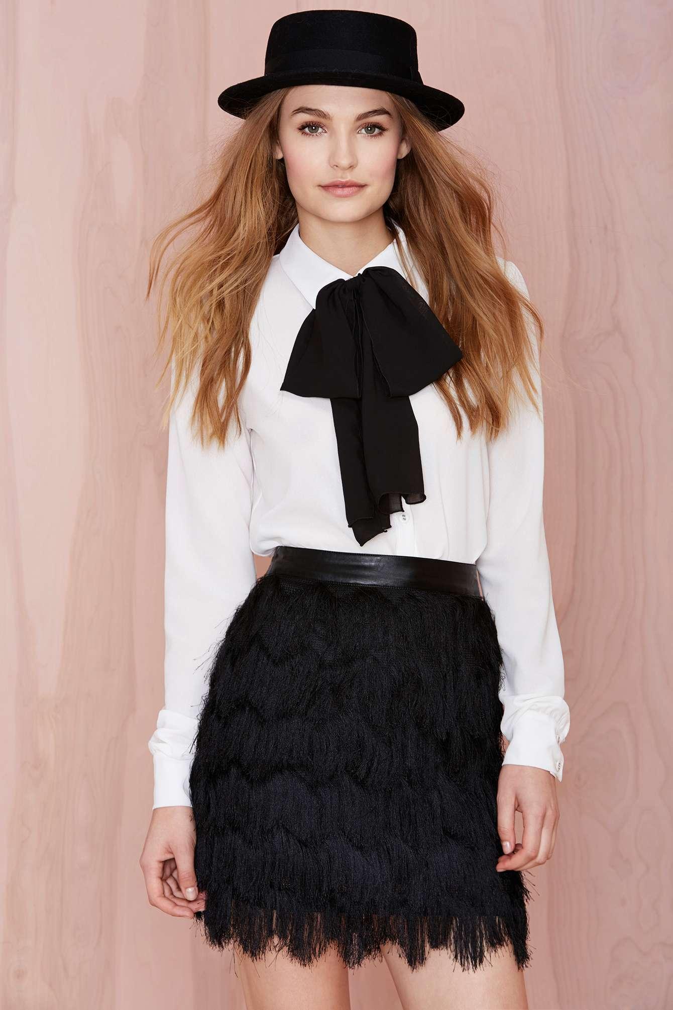 Joa Let's Hang Fringe Skirt from Nasty Gal