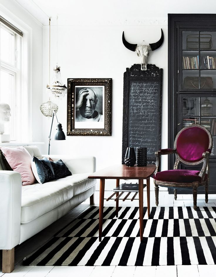 Land of Contrasts   decordemon   Interior Inspiration: Eclectic Glamour