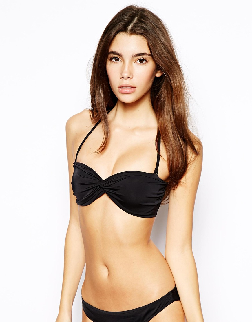 ASOS Mix and Match Twist Bandeau Bikini Top With Tie Back | Going on Vacation? Here are 8 Sexy Swimsuits