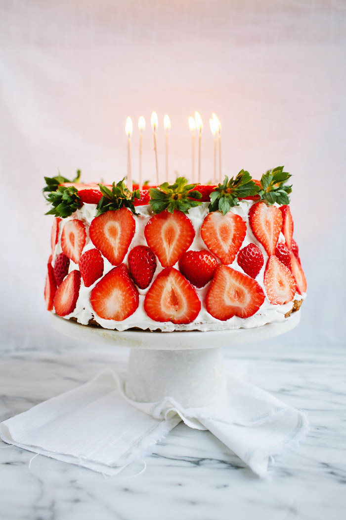Angel Food Cake with Strawberries | Pomelo Blog | Happy 27th Birthday Julia