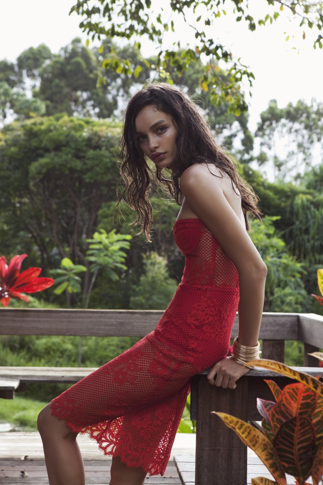 Red Dress For Love and Lemons Pacific Getaway Spring 2015 | Tropical Inspiration