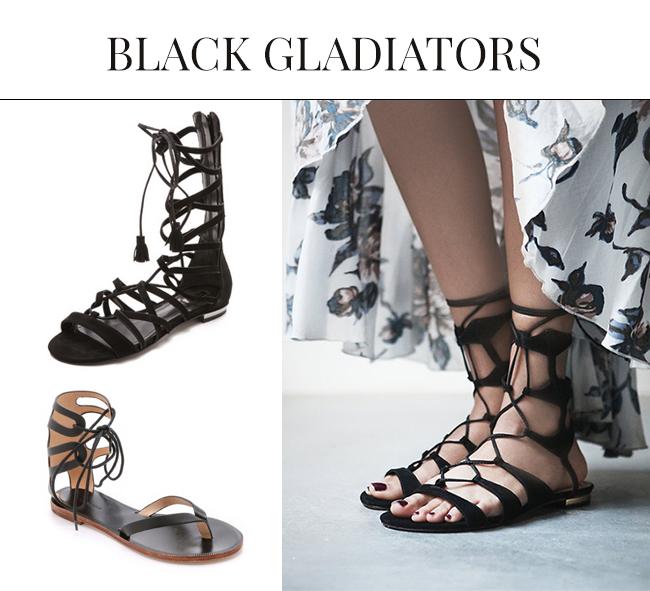 Black Sandals for Spring Summer| Gladiator Sandals 2015