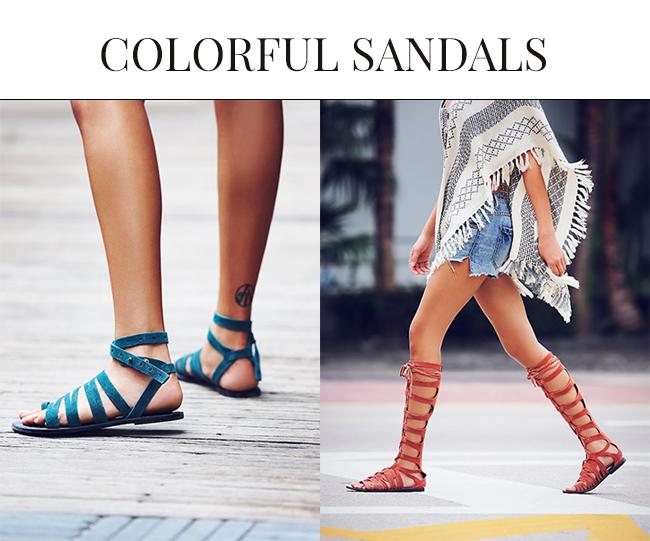 Colorful Sandals for Spring Summer| Gladiator Sandals 2015