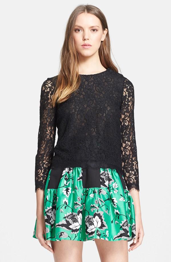 Diane von Furstenberg 'Brielle' Floral Lace Blouse | Diane von Furstenberg Spring Style