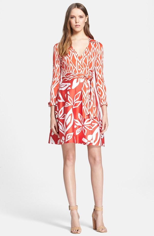 Diane von Furstenberg 'Julian' Silk Wrap Dress | Diane von Furstenberg Spring Style