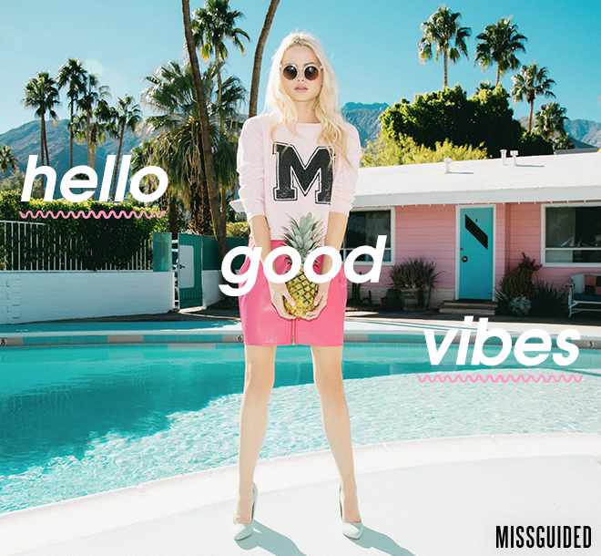 Missguided Hello Good Vibes