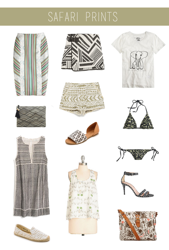 How She'd Wear It with Style and Cheek - Safari Prints