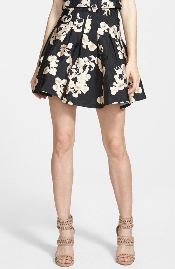 Sister Jane 'New Bloom' Pleated Skirt | Printed Flared Skirts