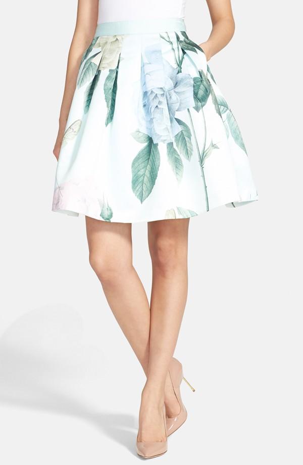Ted Baker London 'Rose Maari' A-Line Skirt | Printed Flared Skirts