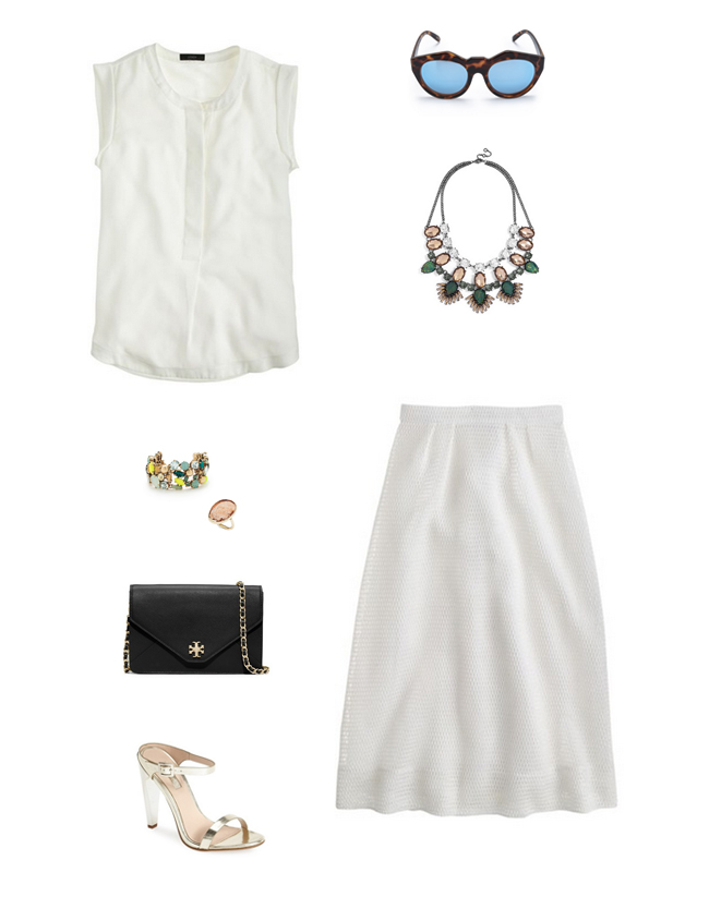How She'd Wear It with Style and Cheek - White A-line Skirt - White Skirts and Dresses