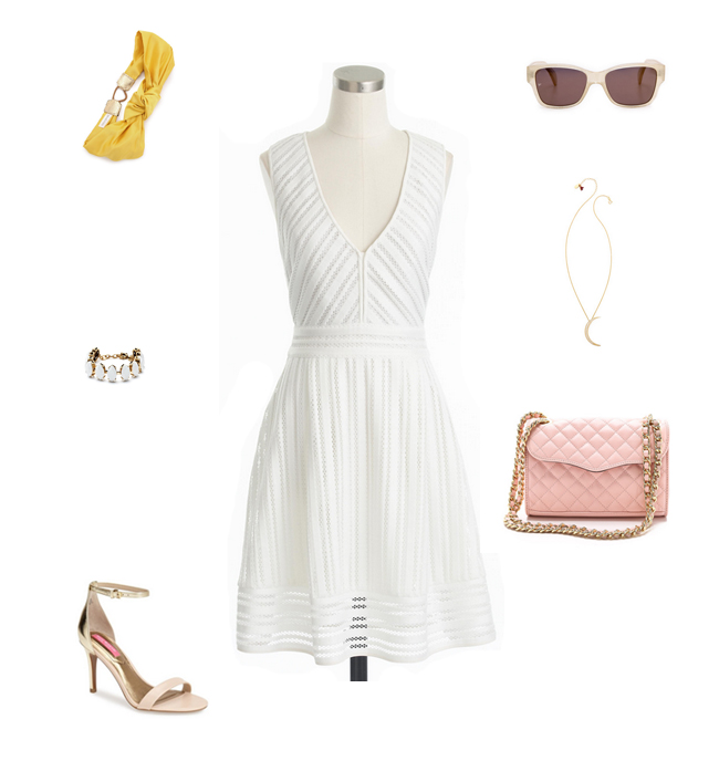 How She'd Wear It with Style and Cheek - White Eyelet Dress | White Lace Dresses