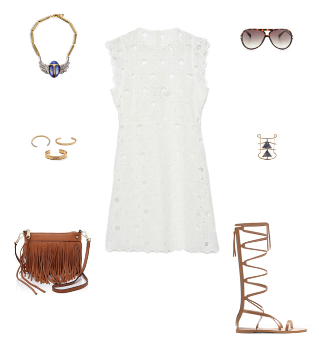 How She'd Wear It with Style and Cheek - White Guipure Lace Dress | White Lace Dresses