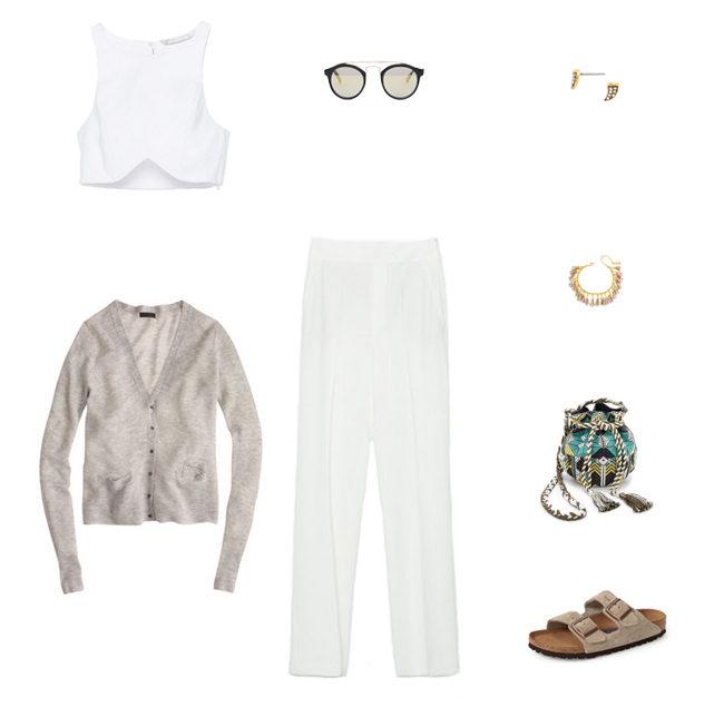 How She'd Wear It with Style and Cheek - White Trousers