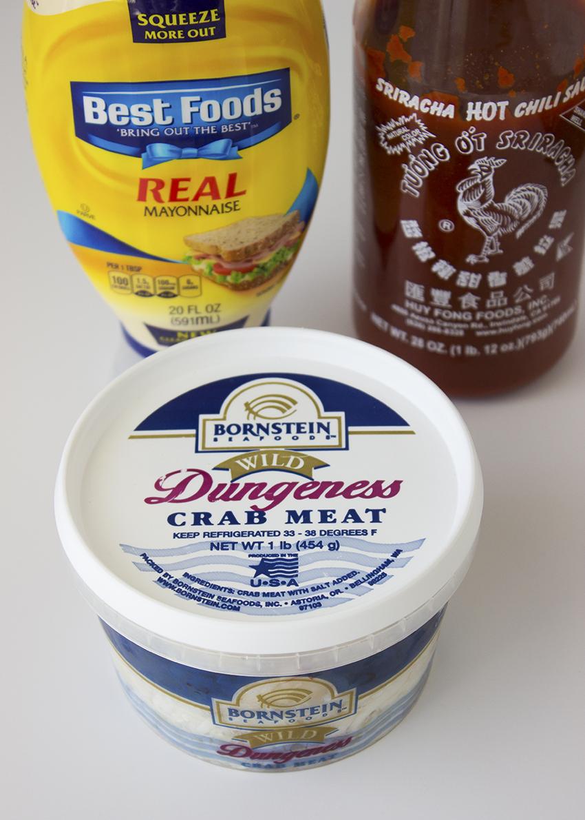 Ingredients for sriracha crab rolls | Sriracha Crab Rolls Recipe