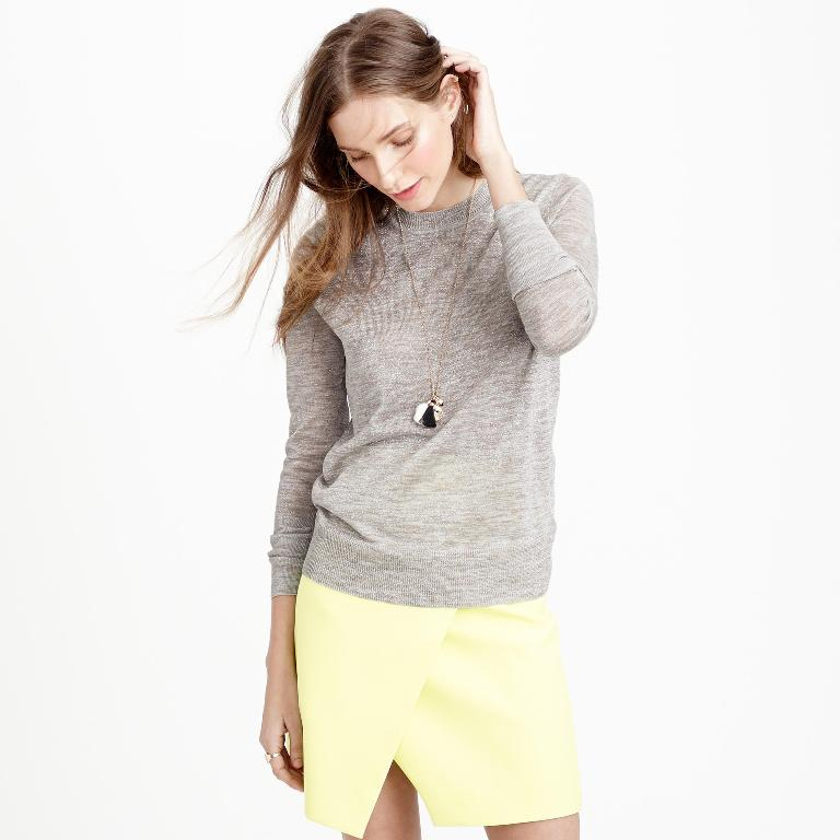 J.Crew Space-Dyed Italian Cotton Sweater | J Crew New Arrivals Spring