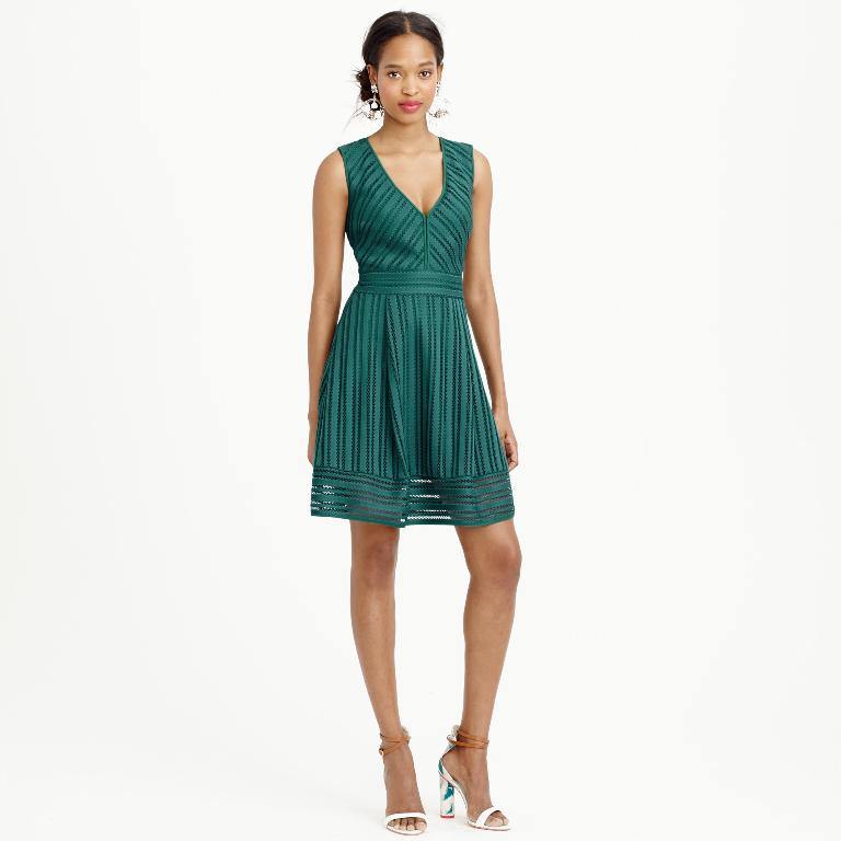 J.Crew Striped Eyelet Dress | J Crew New Arrivals Spring