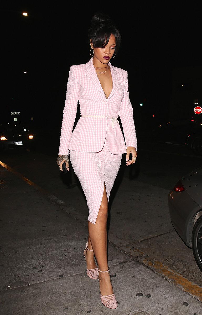Spring Trends 2015 Gingham - Rihanna | Vogue | Rihanna's Style