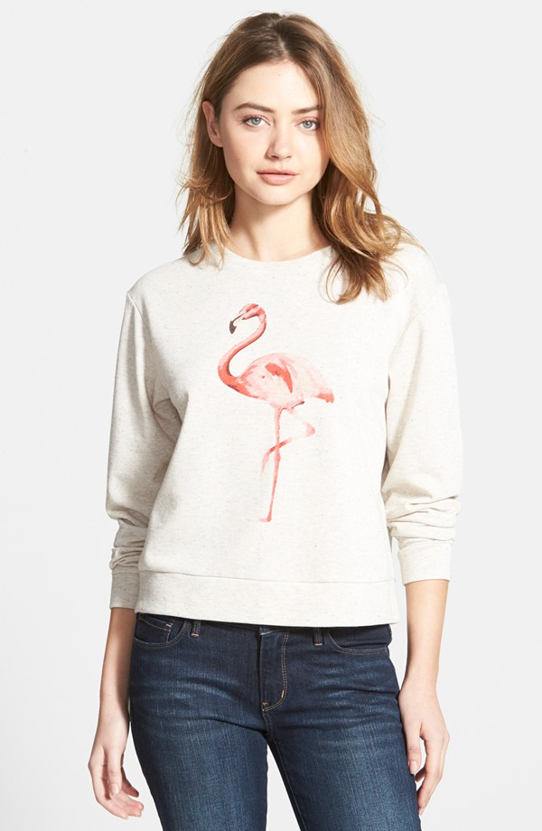 Ace Delivery Flamingo French Terry Sweatshirt | Flamingo Prints