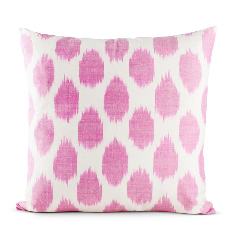 Furbish Studio Fuchsia Spotted Silk Pillow