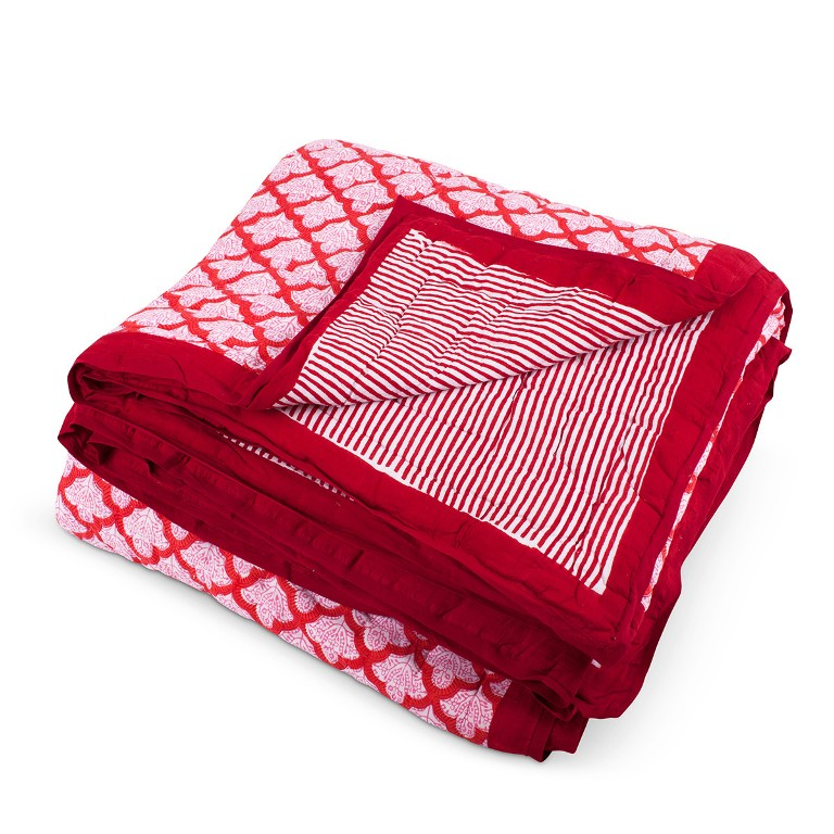 Furbish Studio Jemina Quilt Red