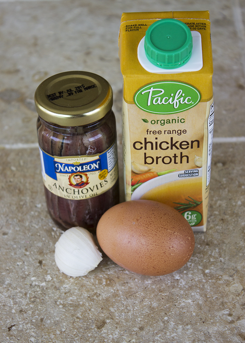 Ingredients for Anchovy Carbonara
