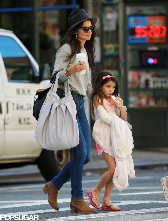 Katie Holmes and Suri | Popsugar | Stylish Celebrity Moms