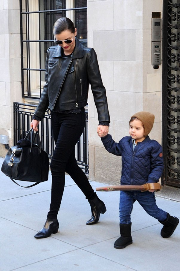 Miranda Kerr's Street Style Hits | Harper's Bazaar | Stylish Celebrity Moms