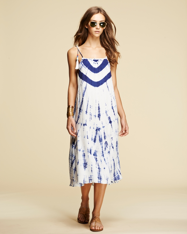 Pepin Tie Dye Tassel Dress in Navy | Five Favorite Prints for Spring with ZebraClub.com