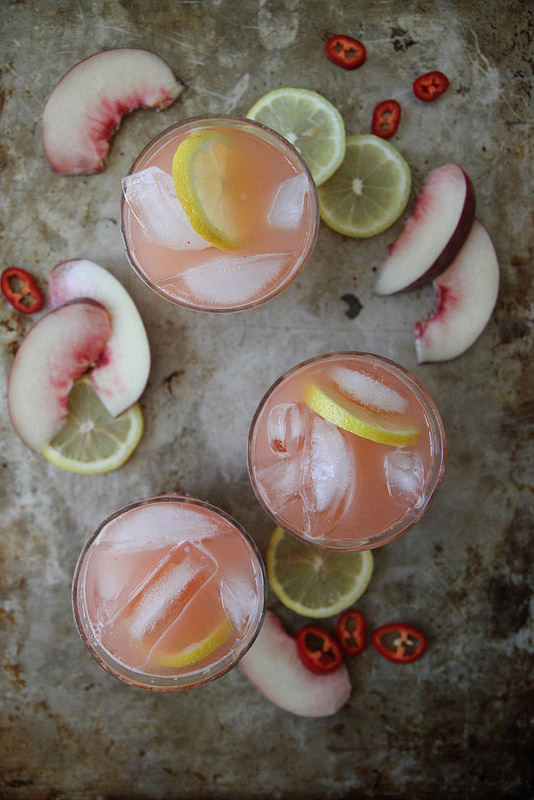 Spicy White Peach Lemonade | Heather Christo | 6 Flavored Lemonade Recipes