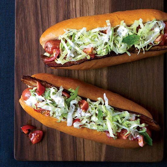 BLT Hot Dogs with Caraway Remoulade | Food and Wine | Grilling Recipes for Father's Day