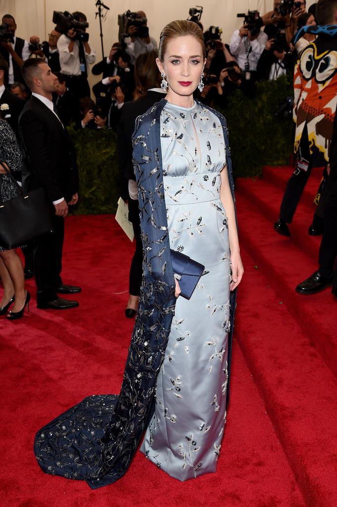 Emily Blunt Wearing Prada 2015 Met Gala | Because I'm Fabulous | Emily Blunt Red Carpet Style