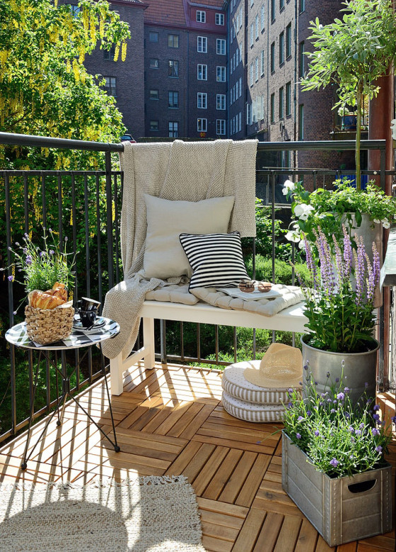 Get the Look – Swedish Balcony | Gardenique | Stunning Small Outdoor Spaces