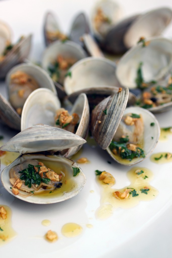 Grilled Clams with Garlic Drizzle | Primal Palate | Grilling Recipes for Father's Day