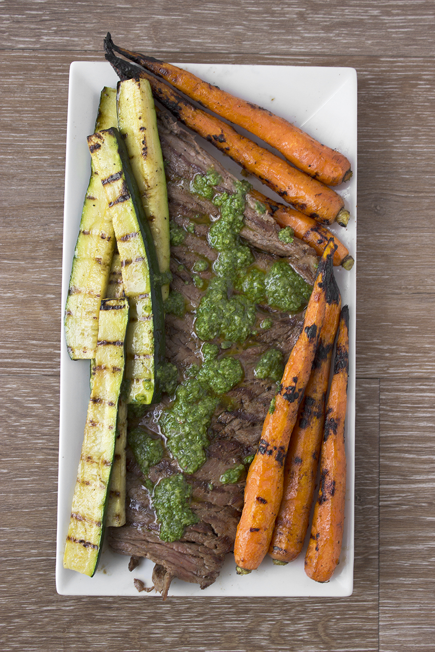 Grilled Skirt Steak with Chimichurri recipe on Style and Cheek