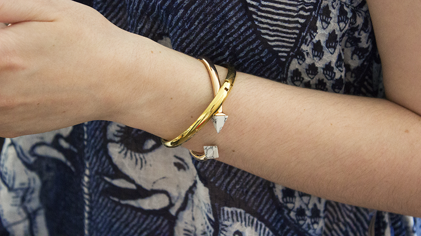 Moorea Seal Fortress Cuff and Hinge Bangle | Summer Accessories on Style and Cheek