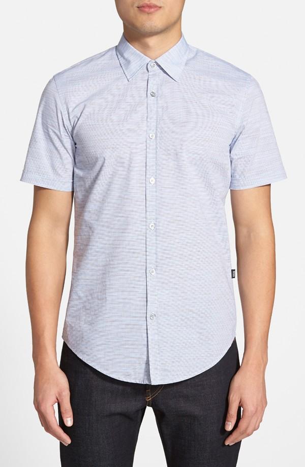BOSS 'Marco' Slim Fit Short Sleeve Sport Shirt | Men's Short Sleeve Shirts