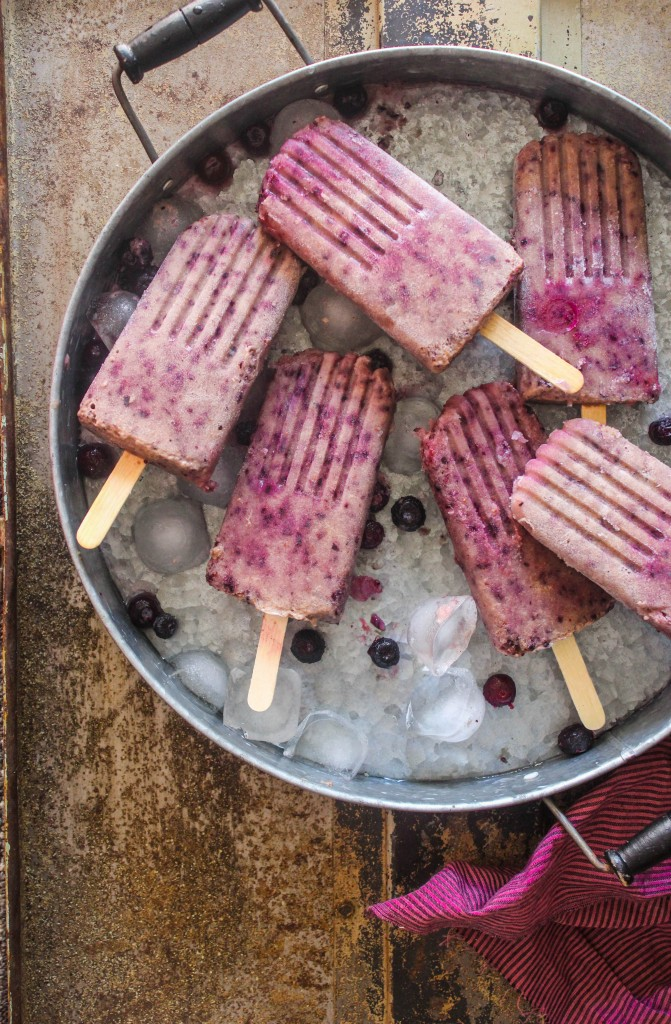 Banana Blueberry Almond Popsicles | Sugar et al | Dairy Free Popsicles