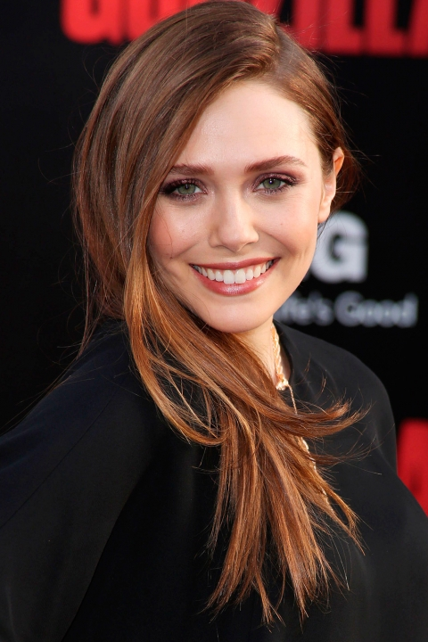 Elizabeth Olsen Side Swept Hairstyle | The It Girl Side Flip Hairstyle